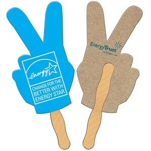 Peace Sign Recycled Hand Fan