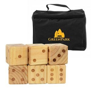 Oversize Wooden Yard Dice Game